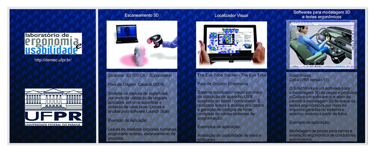 Equipamentos para desenvolvimento da pesquisa na UFPR: SCANER 3D, Eye Tracking e Software Catia