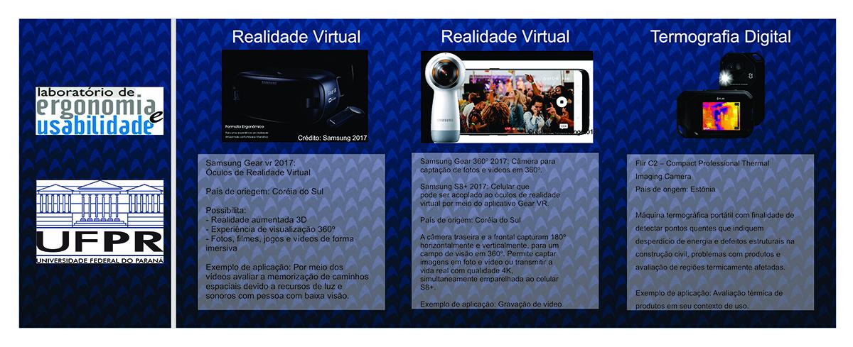 Equipamentos para desenvolvimento da pesquisa na UFPR: Realidade Virtual e Termografia Digital